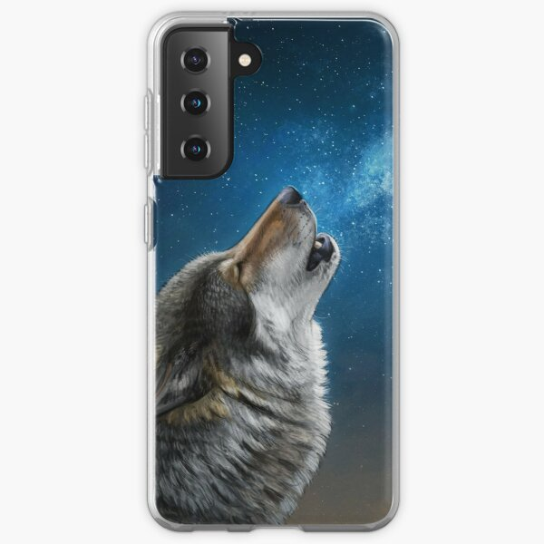 Starry Sky Wolf Samsung Galaxy Soft Case