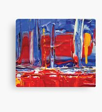 abstract painting red sailing boat Canvas Print