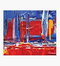 abstract painting red sailing boat Photographic Print