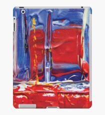abstract painting red sailing boat iPad Case/Skin