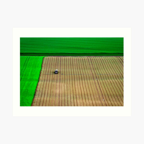 Tractor at work. Art Print