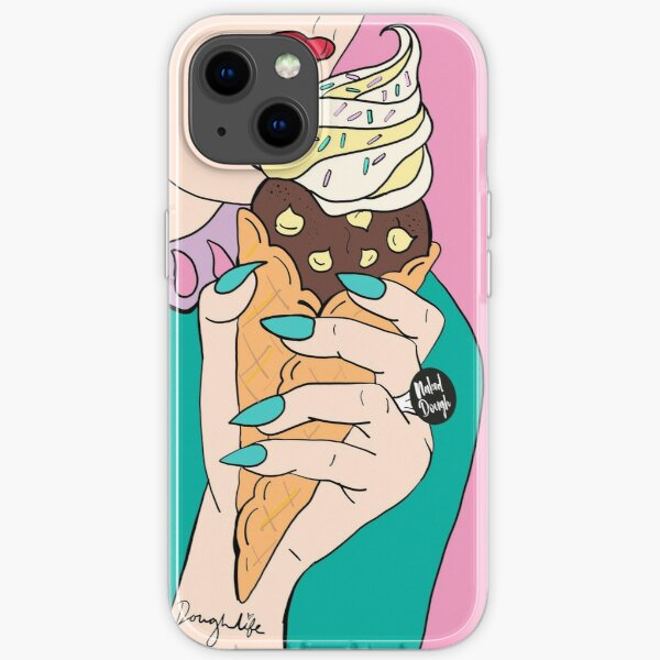 NAKED DOUGH & ICE CONE iPhone Soft Case