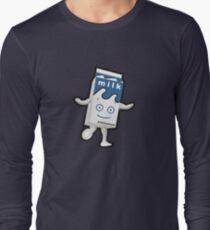 Camiseta de manga larga Desenfoque - Lechoso