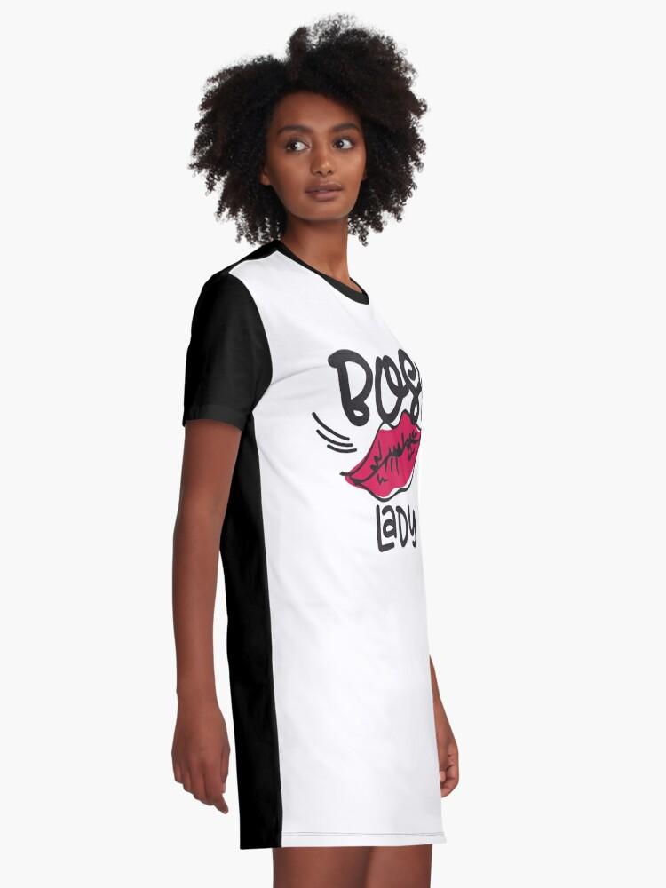Alternative Ansicht von Chefin T-Shirt Kleid