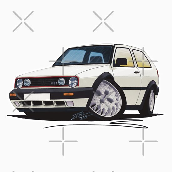 TShirtGifter presents: VW Golf GTi (Mk2) White