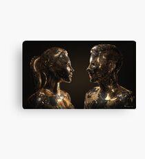 She & He Canvas Print