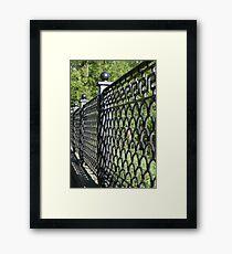 old cast iron fence Framed Print