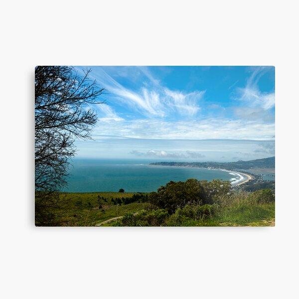 Stinson Beach CA under blue skies Metal Print