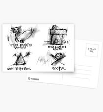 Kind Hearted Woman, Well Guarded House, Man With Gun, Doctor Postcards