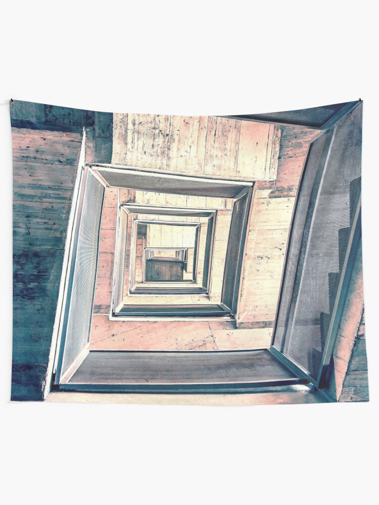 Alternate view of Winding Stairwell Abstract Tapestry