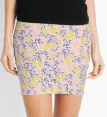 Golden Wattle - Navy & Blush Mini Skirt