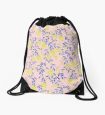 Golden Wattle - Navy & Blush Drawstring Bag
