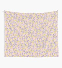 Golden Wattle - Navy & Blush Wall Tapestry