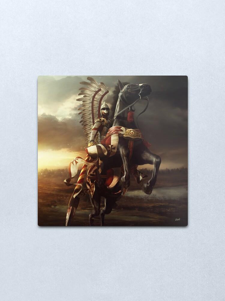 Alternate view of Hussar Metal Print