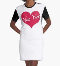 New York Heart Graphic T-Shirt Dress