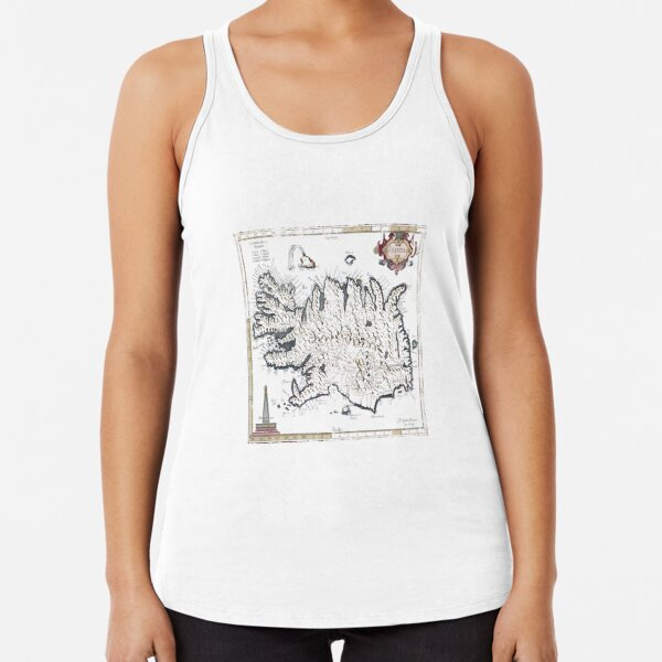 Old Maps, Geographic Map, #OldMaps,  #OldMap,  #Old, #Maps,  #Map, #GeographicMap, #Geography Racerback Tank Top