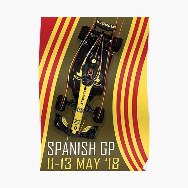 Carlos Sainz GP España 2018 Póster