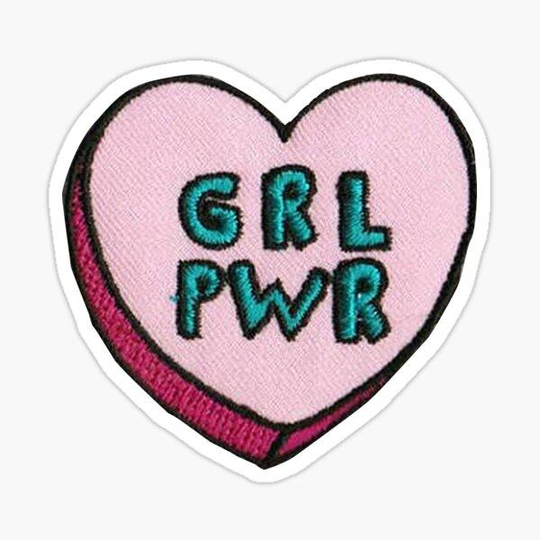 girl power patch Sticker