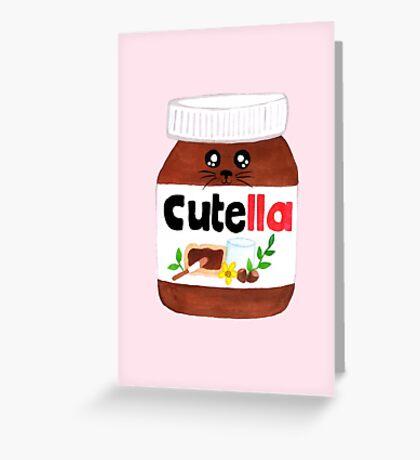 """Cute Nutella AKA """"Cutella"""" Greeting Card"""