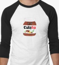 "Cute Nutella AKA ""Cutella"" Men's Baseball ¾ T-Shirt"
