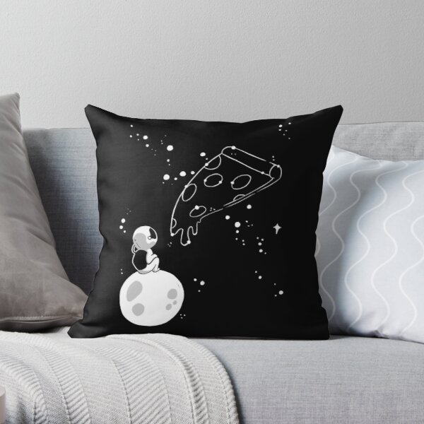 Pizza in the Stars - Astronaut Throw Pillow
