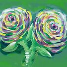 Roses in the Green Garden by Filomena Jack