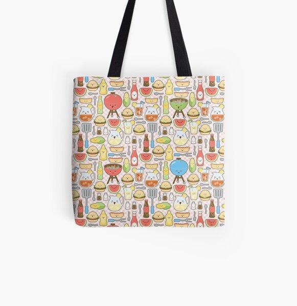 Kawaii Cookout All Over Print Tote Bag