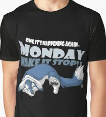 Monday - Make it stop! (blue) Graphic T-Shirt