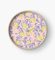 Golden Wattle - Navy & Blush Clock