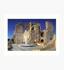 Alarçon Mendoza Castle's Ruins Art Print