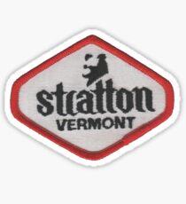 Stratton Mt Vermont Ski resort from image of vintage ski patch Sticker