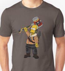 Fortnite Raptor skin Ft Homer simpson Unisex T-Shirt
