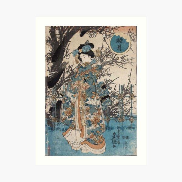 Classic Vintage Ukiyo-e Japanese Art Geisha Portrait Art Print