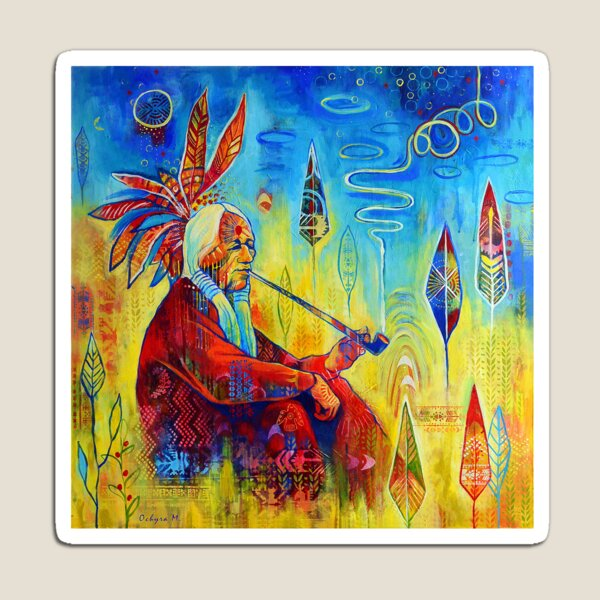 Peace pipe | Art Magnet