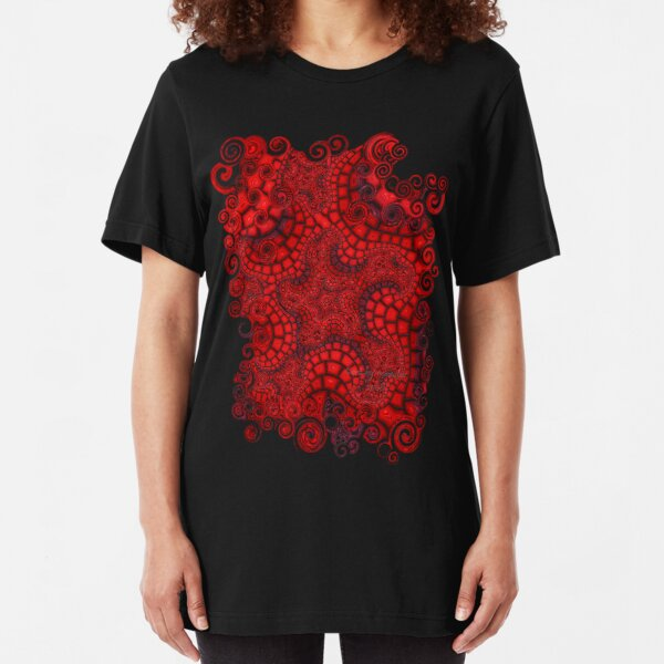 Mosaic Fractal Slim Fit T-Shirt