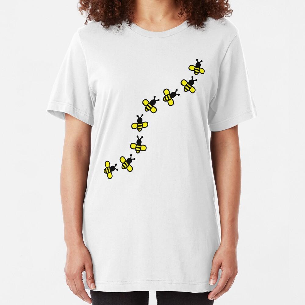 Abejas Camiseta ajustada