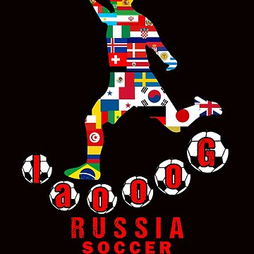 Russia 2018 World Cup - Soccer Qualified Team by Tetete