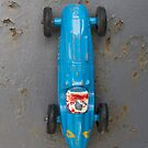Vintage blue toy car by Flo Smith