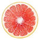 Slice of pink grapefruit by 6hands