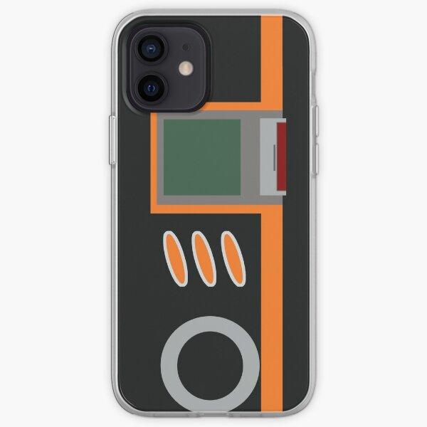 Digivice Burst phone   Black and orange version  iPhone Soft Case
