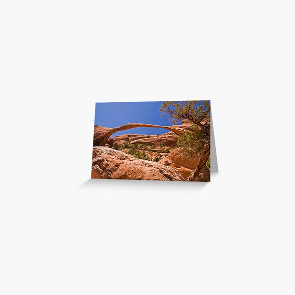 Landscape Arch at high noon Greeting Card