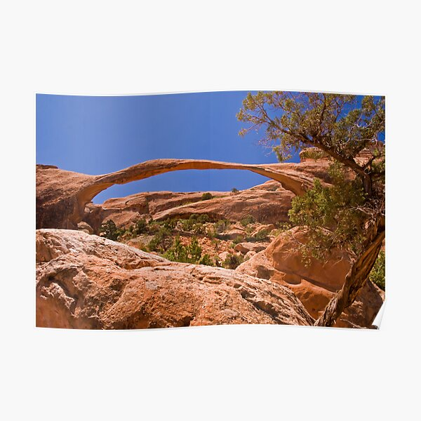 Landscape Arch at high noon Poster