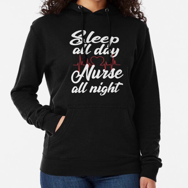 Feel Safe At Night Sleep With A Nurse Funny T-shirt RN Humor Hoodie Sweatshirt