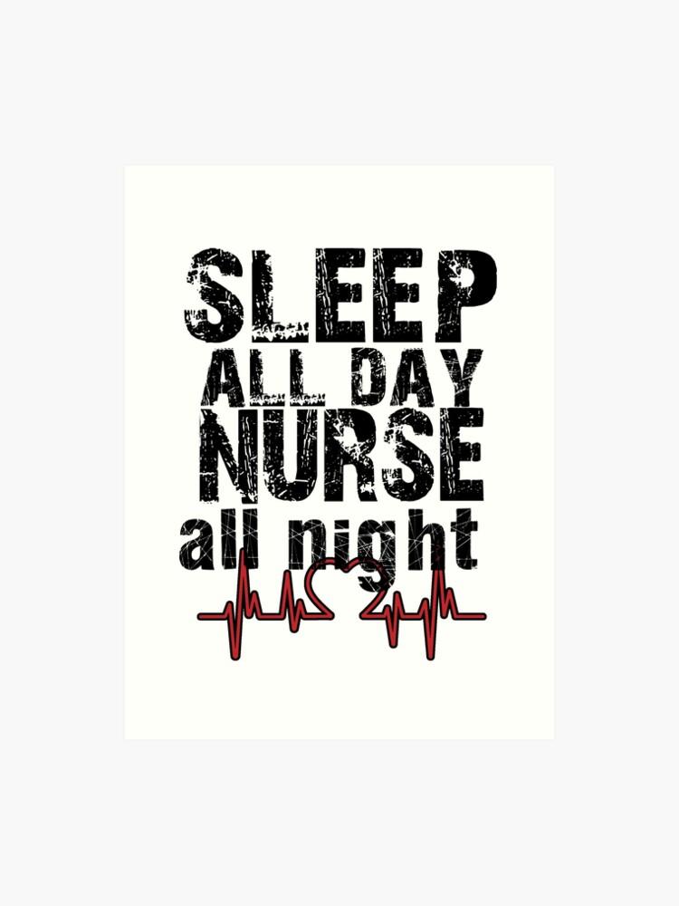 2b308199 Sleep all day nurse all night funny t-shirts funny sayings unisex women's t  shirt