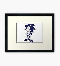 Minimalist Sonic 6 Framed Print