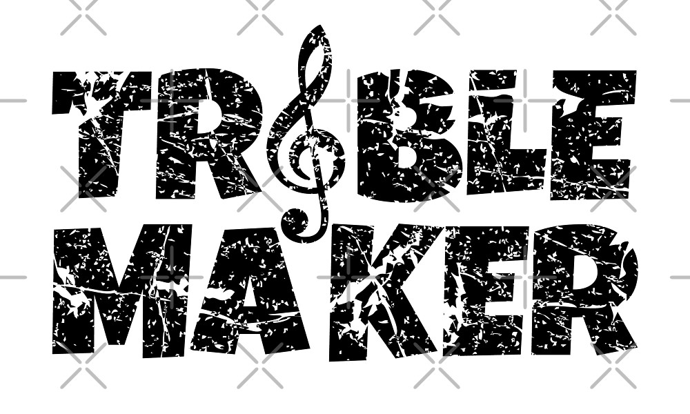 Treble Maker Musician Gifts (Ancient Black) by theshirtshops