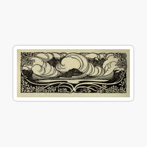 Montagnes Art Nouveau Sticker