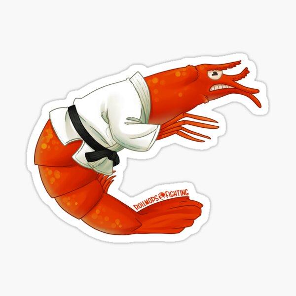 BJJ Shrimpy Shrimp Sticker