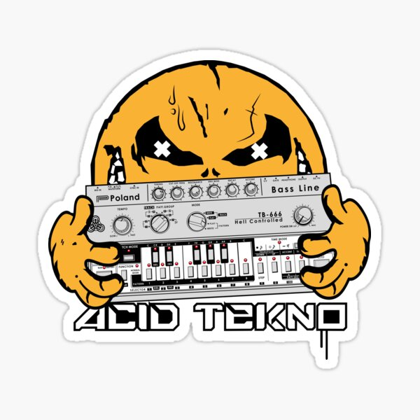 acid tekno Sticker
