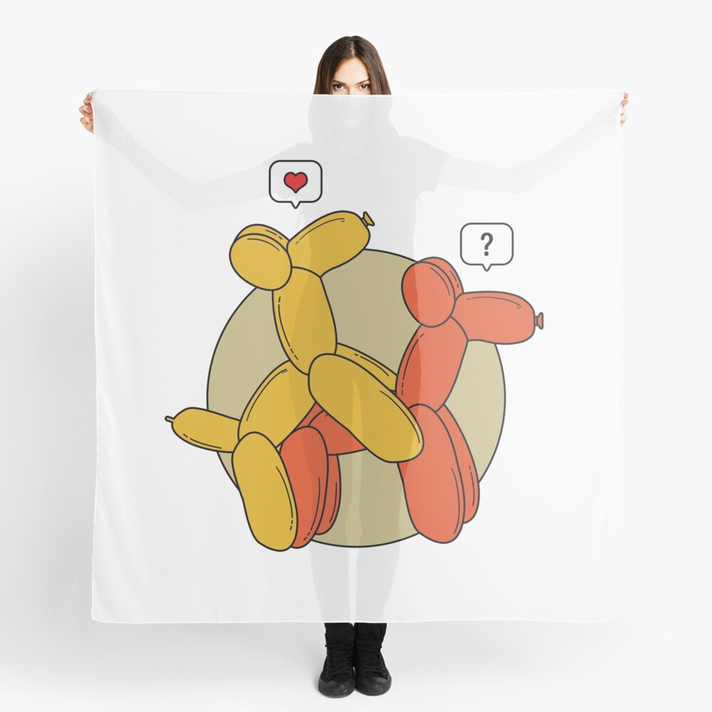 Hot balloon dogs Scarf